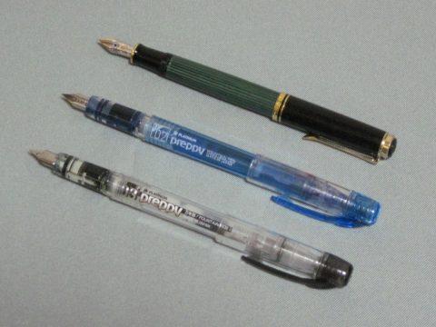 使用中のペン3本