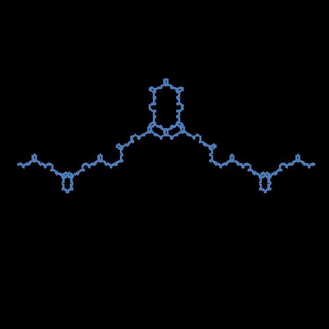 化学の構造式みたいな曲線