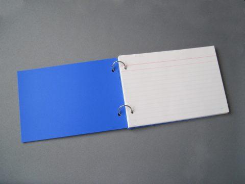 情報カード持ち運び用の表紙の完成図