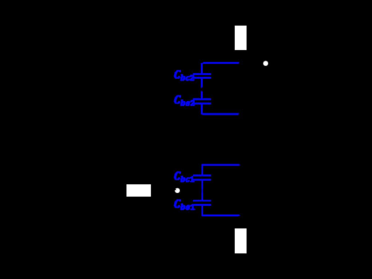カスコード接続と寄生容量