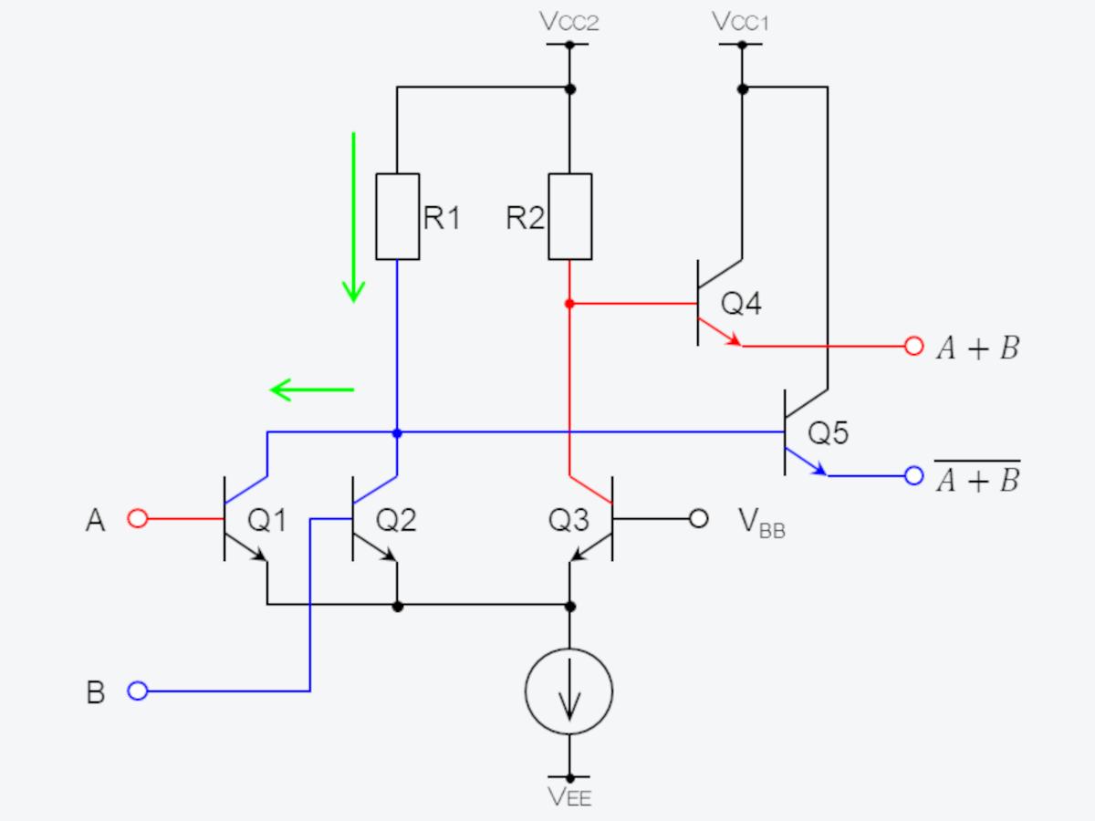 トランジスタを並列接続してORを実現する方法