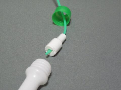 ダイソー製なわとびの長さ調節部